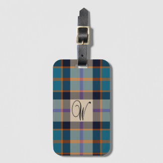 Label van de het geruite Schotse wollen stofbagage Kofferlabels