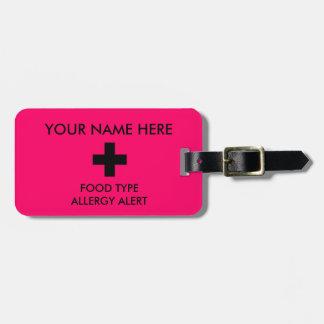 Label van identiteitskaart van de allergie het kofferlabels