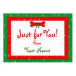 Labels van de Gift van Kerstmis van de hond de Bee Visitekaartjes Sjabloon