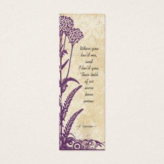Labels van het Huwelijk van de Bloem van het Mini Visitekaartjes