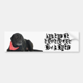 Labrador aan boord bumpersticker
