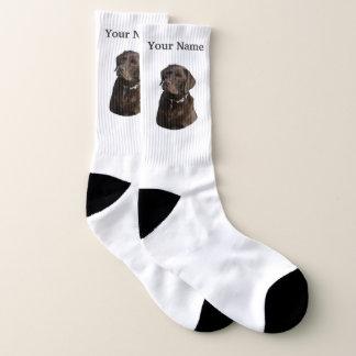 Labrador van de chocolade hond sokken