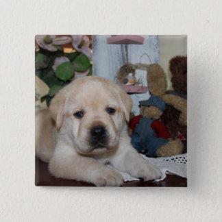 Labrador Vierkante Button 5,1 Cm