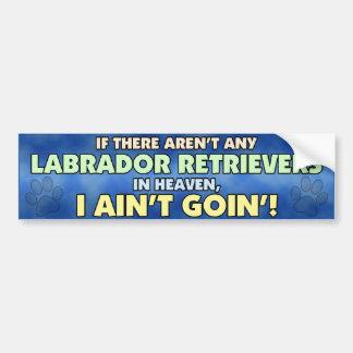 Labradors in de Sticker van de Bumper van de Hemel