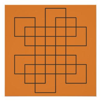 Labyrint op Sinaasappel Poster