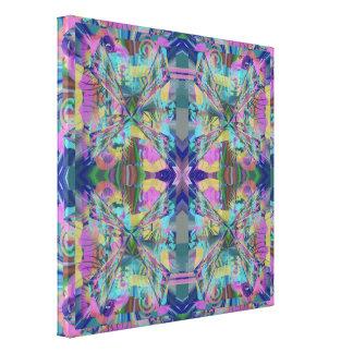 Labyrint van Kleuren Canvas Print