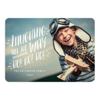 Lachend al Kaart van de Foto van de Manier Blije 12,7x17,8 Uitnodiging Kaart