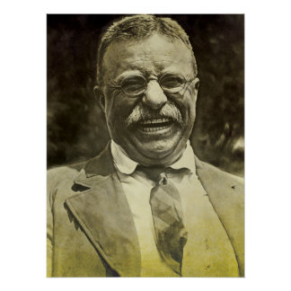 Lachend Theodore Roosevelt Poster