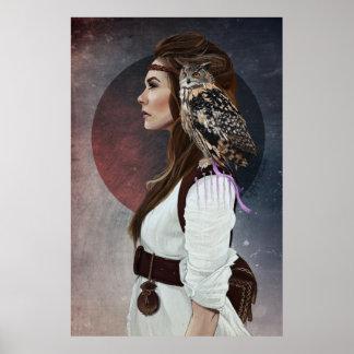 """Lady Owl "" opstellen Poster"