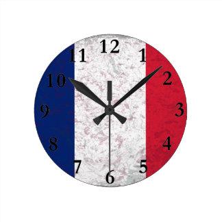 LaFrankrijk Vlag van Pavillon DE van Frankrijk Ronde Klok Medium