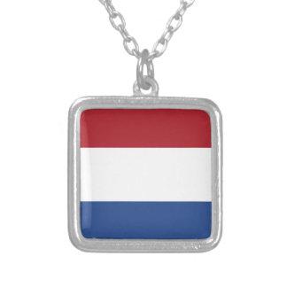 Lage Kosten! De Caraïbische Vlag van Nederland Zilver Vergulden Ketting