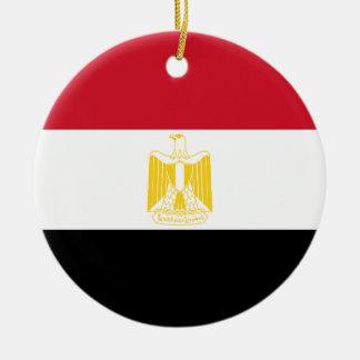 Lage Kosten! De Vlag van Egypte Rond Keramisch Ornament