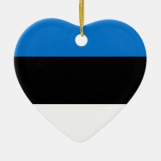 Lage Kosten! De Vlag van Estland Keramisch Hart Ornament