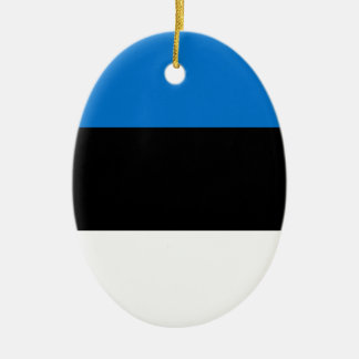 Lage Kosten! De Vlag van Estland Keramisch Ovaal Ornament