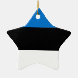Lage Kosten! De Vlag van Estland Keramisch Ster Ornament