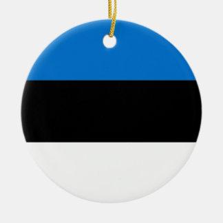 Lage Kosten! De Vlag van Estland Rond Keramisch Ornament