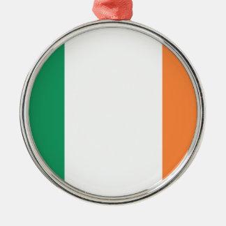 Lage Kosten! De Vlag van Ierland Zilverkleurig Rond Ornament