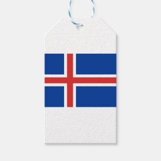 Lage Kosten! De Vlag van IJsland Cadeaulabel