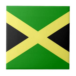 Lage Kosten! De Vlag van Jamaïca Tegeltje Vierkant Small