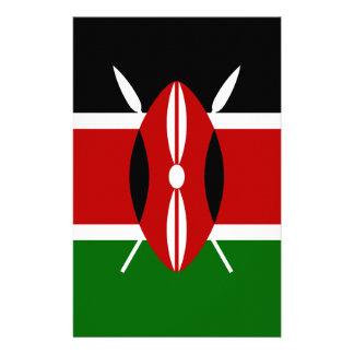 Lage Kosten! De Vlag van Kenia Briefpapier