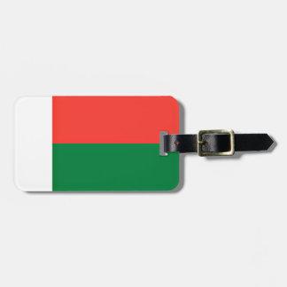 Lage Kosten! De Vlag van Madagascar Kofferlabel