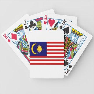 Lage Kosten! De Vlag van Maleisië Bicycle Speelkaarten