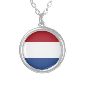 Lage Kosten! De Vlag van Nederland Zilver Vergulden Ketting