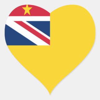 Lage Kosten! De Vlag van Niue Hart Sticker