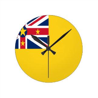 Lage Kosten! De Vlag van Niue Ronde Klok