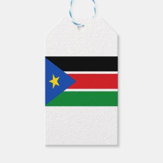 Lage Kosten! De Vlag van Zuid-Soedan Cadeaulabel