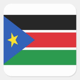 Lage Kosten! De Vlag van Zuid-Soedan Vierkante Sticker