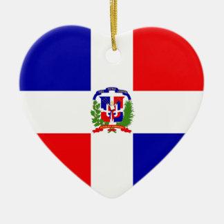 Lage Kosten! Dominicaanse Republiek Keramisch Hart Ornament