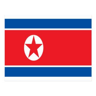 Lage Kosten! Vlag de Noord- van Korea Briefkaart