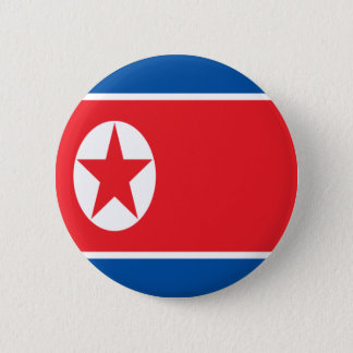 Lage Kosten! Vlag de Noord- van Korea Ronde Button 5,7 Cm