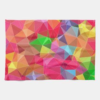 lage poly abstract patroon heldere kleuren als handdoeken