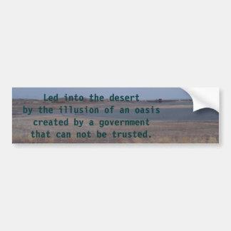 lahontan die meer, in de woestijn door illus… bumpersticker