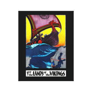 Land van de Druk van het Canvas van Vikingen
