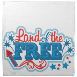 Land van de Vrije Amerikaanse giften, vrijheid Servet