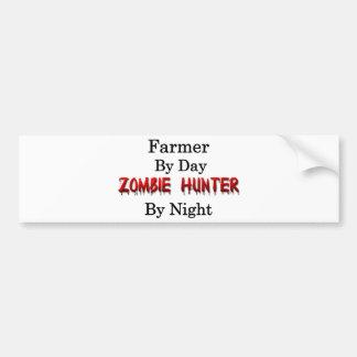 Landbouwer/de Jager van de Zombie Bumpersticker