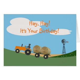 Landbouwer op de Kaart van de Verjaardag van de