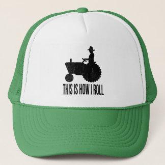 Landbouwer op Tractor zo ROL ik Trucker Pet