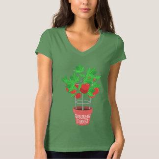 Landbouwer-Tomaat Groeien het in de voorsteden van T Shirt