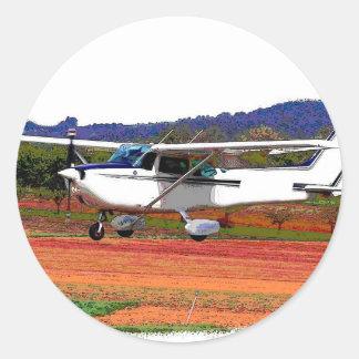 Landend Vliegtuig Ronde Sticker