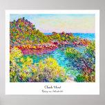 Landschap dichtbij Monte Carlo, 1883 Claude Monet Print