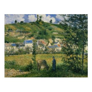 Landschap in Chaponval, 1880 Briefkaart