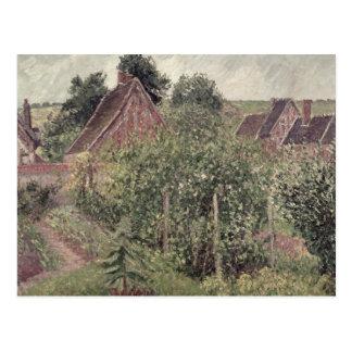 Landschap met Daken van het Plattelandshuisje, Briefkaart