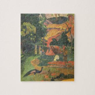 Landschap met Pauwen door Paul Gauguin Puzzel