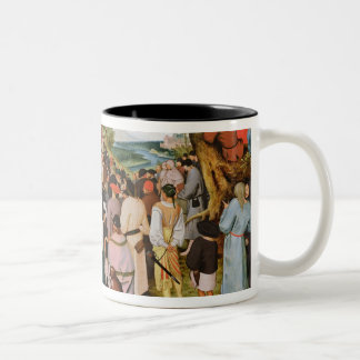 Landschap met St. John het Doopsgezinde Prediken Tweekleurige Koffiemok