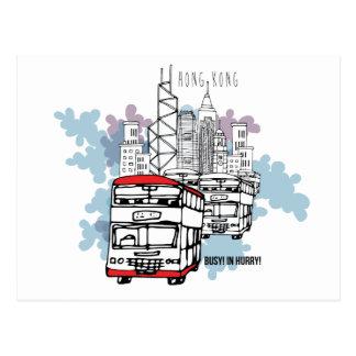 Landschap van de Levensstijl van Hong Kong het Briefkaart