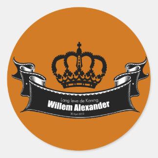 Lang leve DE Koning Ronde Sticker